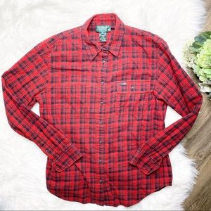 • Lauren Ralph Lauren Red Plaid Button Up Shirt •
